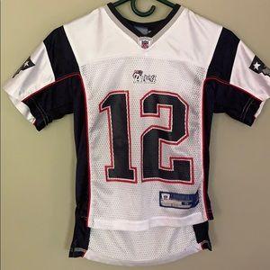 promo code e6ee7 4825f Reebok Tom Brady Jersey #12